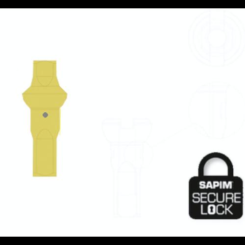 Nippel 14G - Polyax - Alu - Double Square - Yellow - Secure-Lock