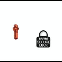 thumb-Sapim Nippel 14G - Polyax - Alu - Double Square - Oranje - Secure-Lock-1
