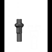 thumb-Sapim Nippel 14G - Polyax - Alu - Double Square - Black-1