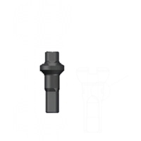 thumb-Sapim Nippel 14G - Polyax - Alu - Double Square - Zwart-1
