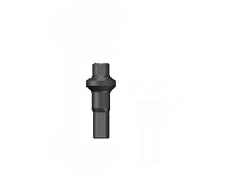 Nippel 14G - Polyax - Alu - Double Square - Schwarz