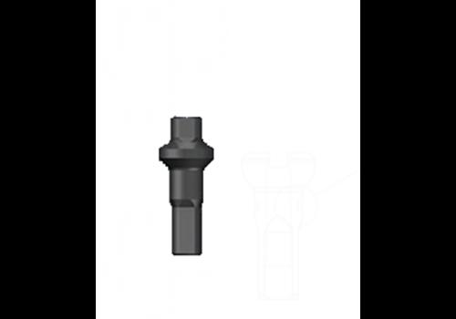 Nippel 14G - Polyax - Alu - Double Square - Zwart
