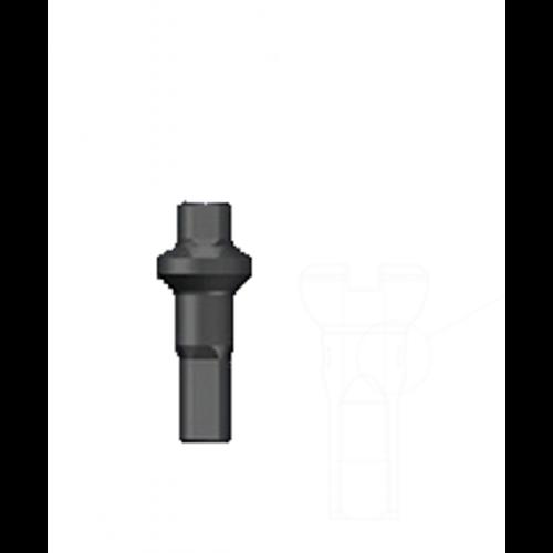 Nippel 14G - Polyax - Alu - Double Square - Black