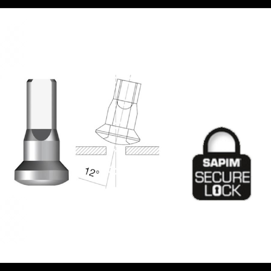 Sapim  Nippel 14G - Brass - Upside-Down - Innen Nippel - Secure Lock - Enve-1