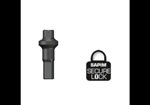 Nippel 14G - Polyax - Alu - Double Square - Zwart - Secure-Lock