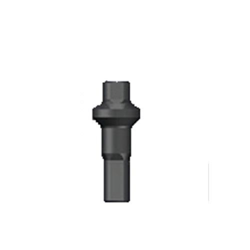 Nippel 14G - Polyax - Brass - Double Square - Schwarz