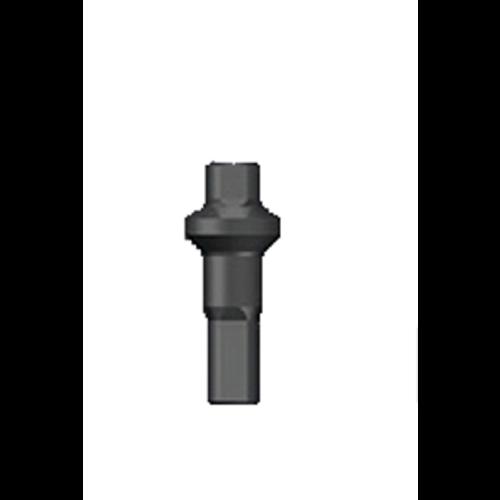 Nippel 14G - Polyax - Brass - Double Square - Zwart