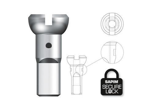 Nippel 14G - Polyax - Brass - Silver - Secure Lock