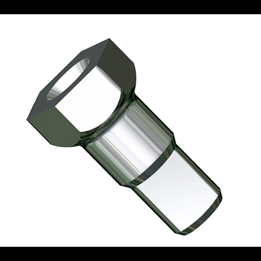 Sapim - Nipple 14G - Hexa Polyax - Brass - Zwart-2