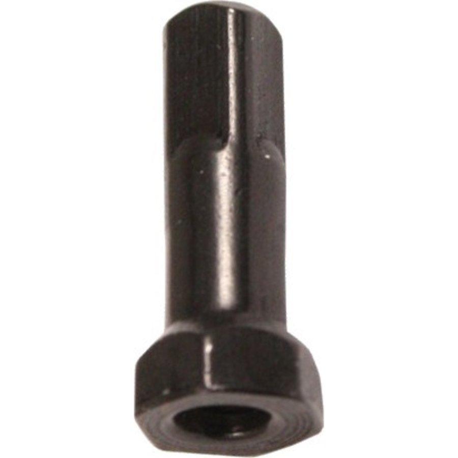 Sapim - Nipple 14G - Hexa Polyax - Brass - Zwart-1