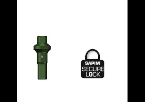 Nippel 14G - Polyax - Alu - Double Square - Groen - Secure Lock
