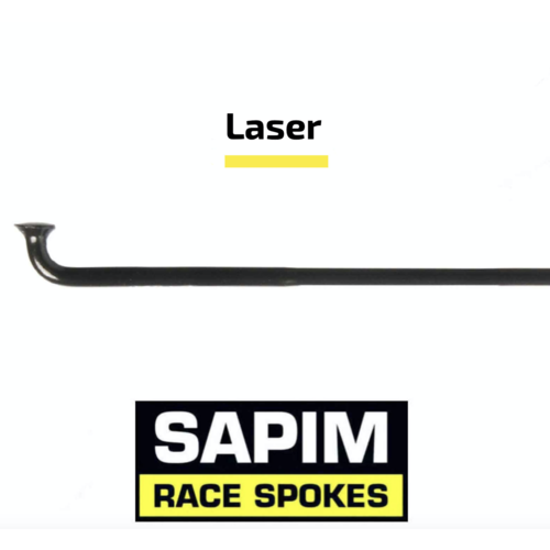 Sapim Laser 14G - Schwarz - J-Bend