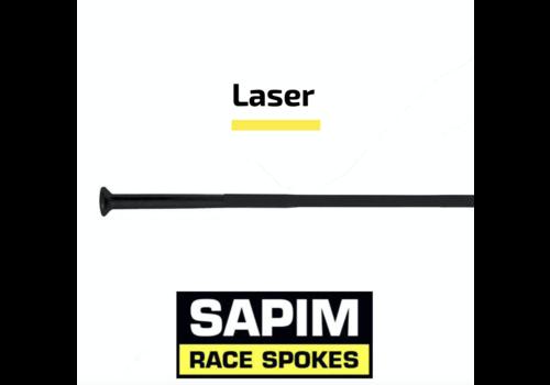 Sapim Laser 14G - Black - Straight Pull