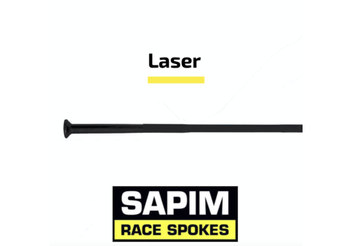 Sapim Laser 14G - Zwart - Straight Pull