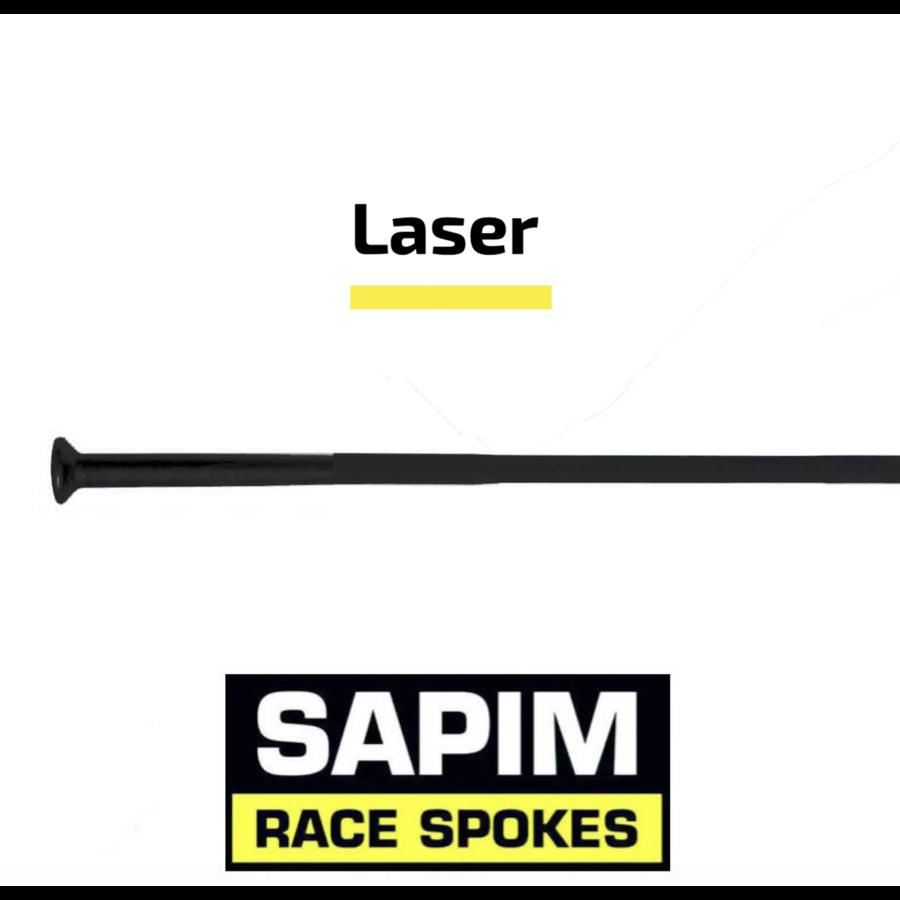 Sapim Laser 14G - Zwart - Straight Pull - Spaak-1