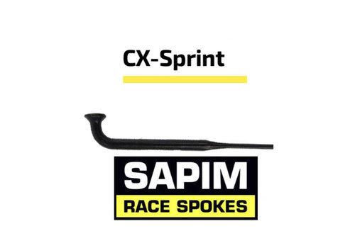 Sapim CX-Sprint Bladed 14G - Black - J-Bend