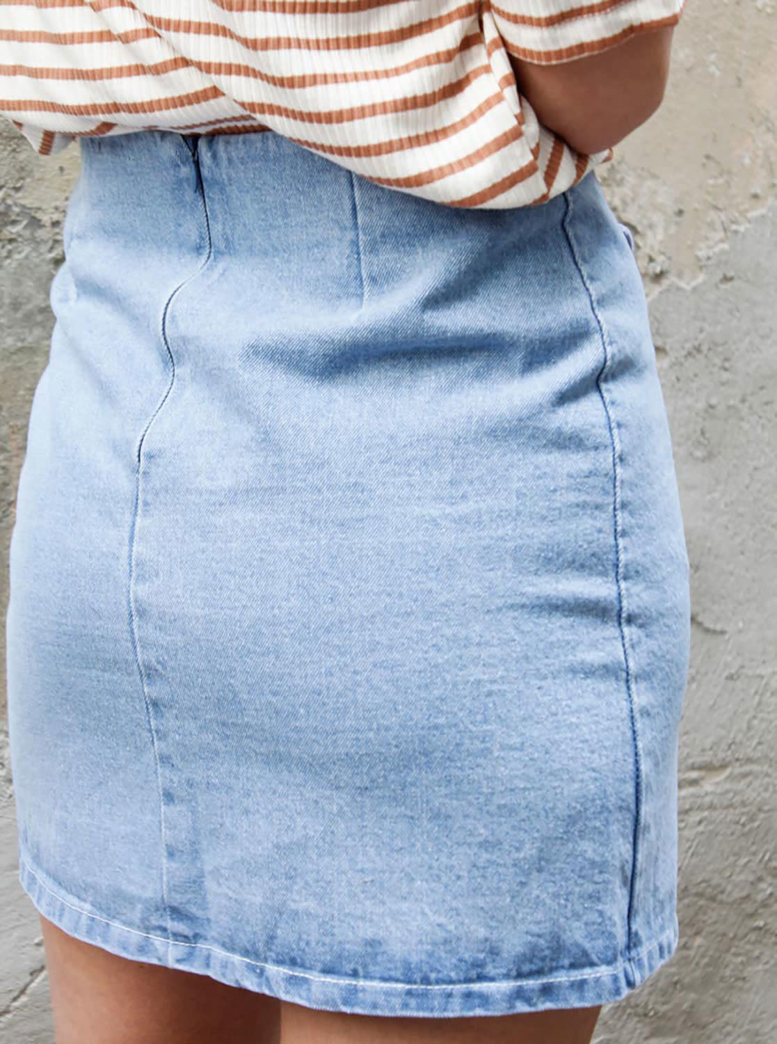 release date wholesale price best value Things I Like Things I Love Lace Up Denim Skirt