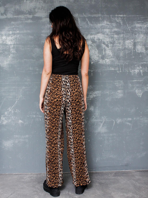fda48f64aace Plisse Pants Leopard - Things I Like Things I Love