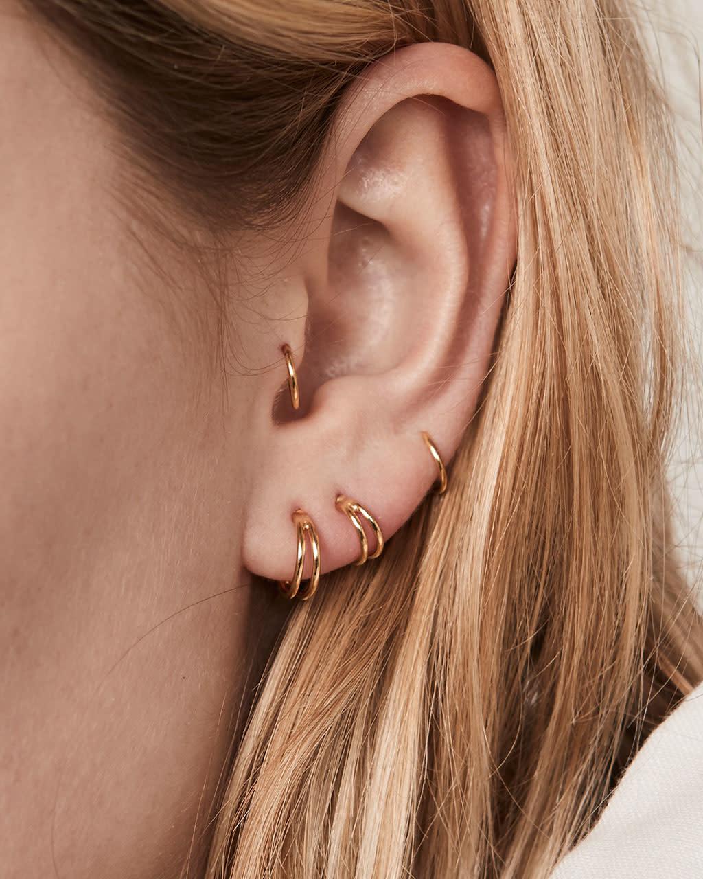7d3dd5b1ac9ee Fashionology FY Double Hoop Earring Gold 10mm