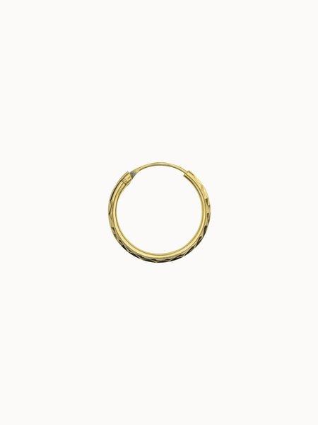 Flawed Medium Diamond Cut Hoop Gold