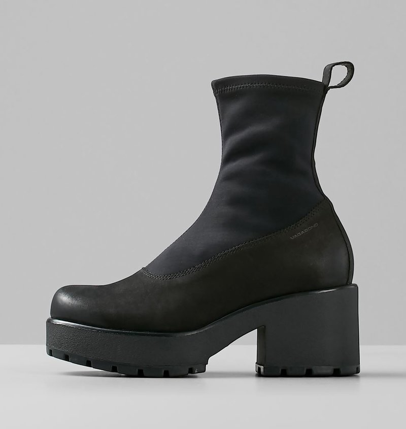 DIOON Black Nubuck/Textile Boots