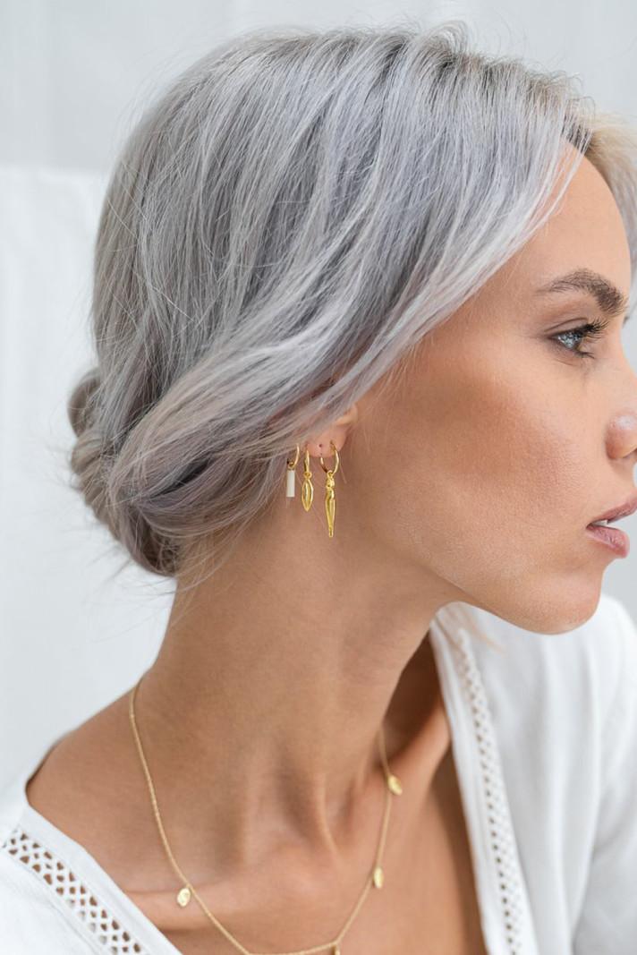 Lips Hoop Gold