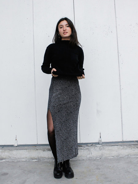 MbyM Skirt Black Silver Glitter
