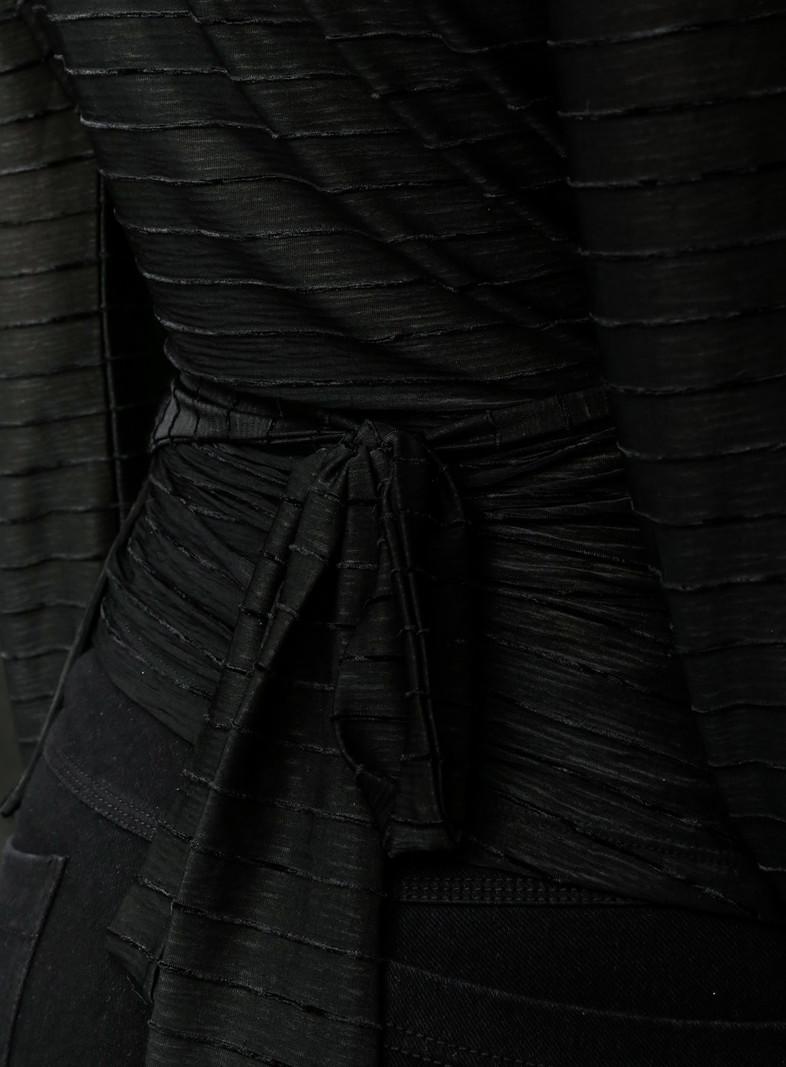 TILTIL Samantha Wrap Top Black