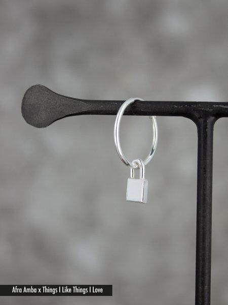 Afra Amba Lock Earring Silver