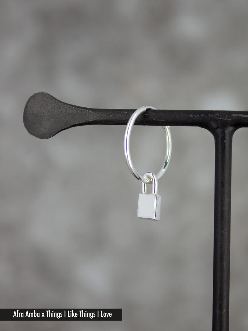 Lock Earring Silver