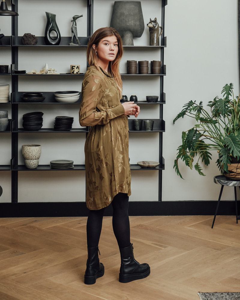 Ivana Shirt Dress Military Olive
