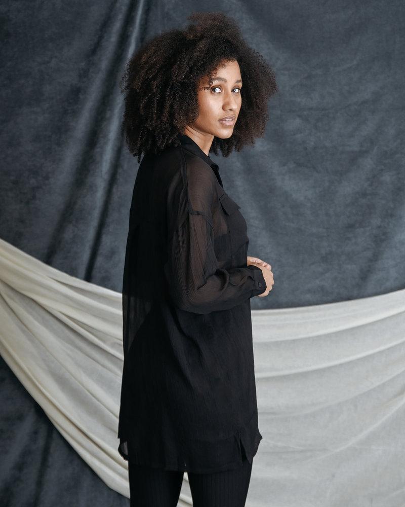 Neno Long Shirt Black