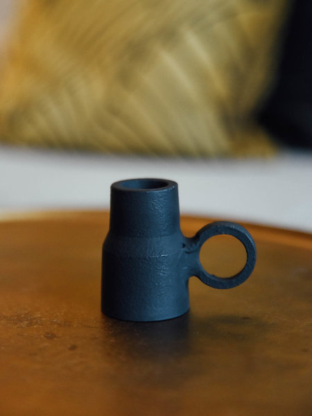 Candle holder Oppilo Black