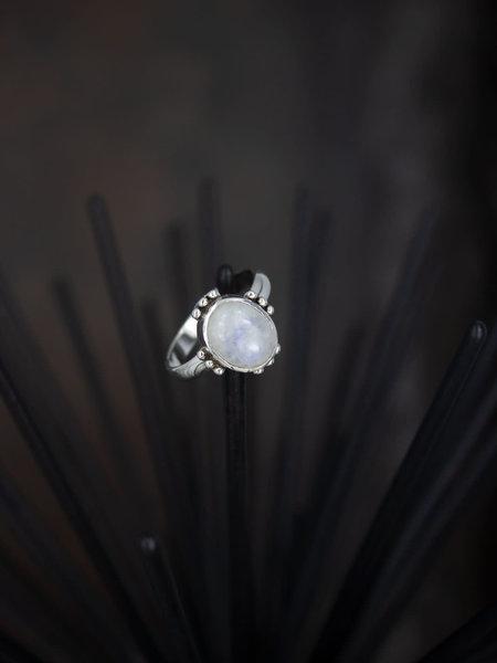Things I Like Things I Love Stone Ring White Flora