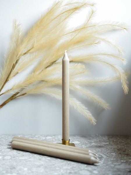Candles Taupe Set of 4