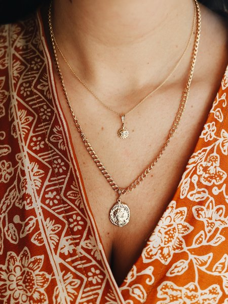 The Two Collectors Necklace Charm Sunshine Goldfilled