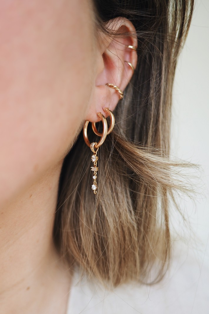Goldplated Earring Charm Constellation
