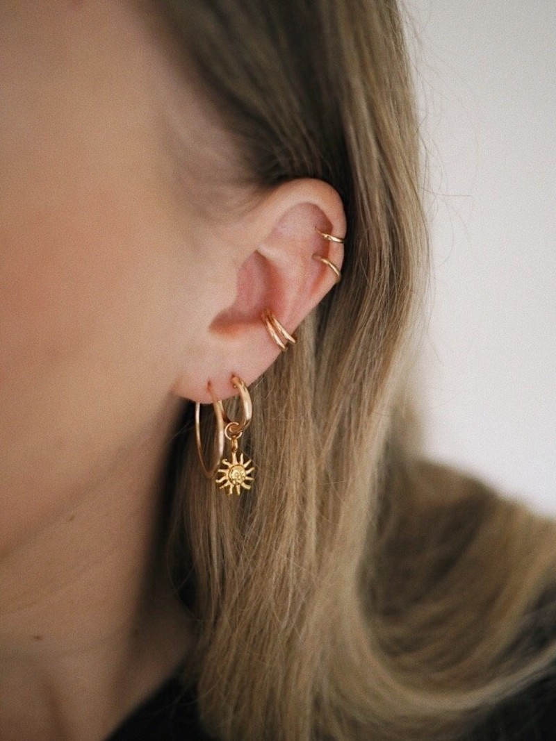 Goldfilled Earring Charm Daylight