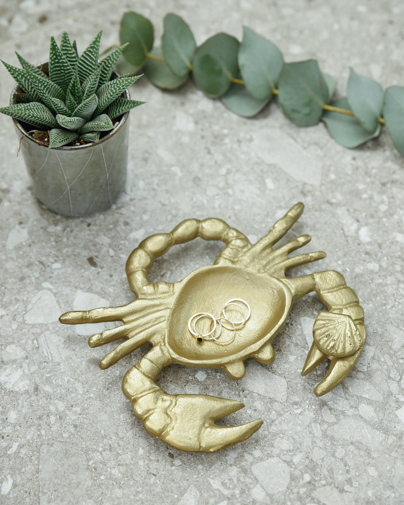 Plate Crab Gold