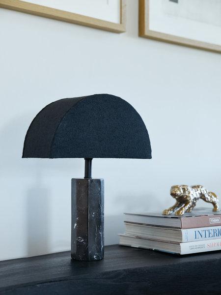 HK Living Table Lamp Black Marble