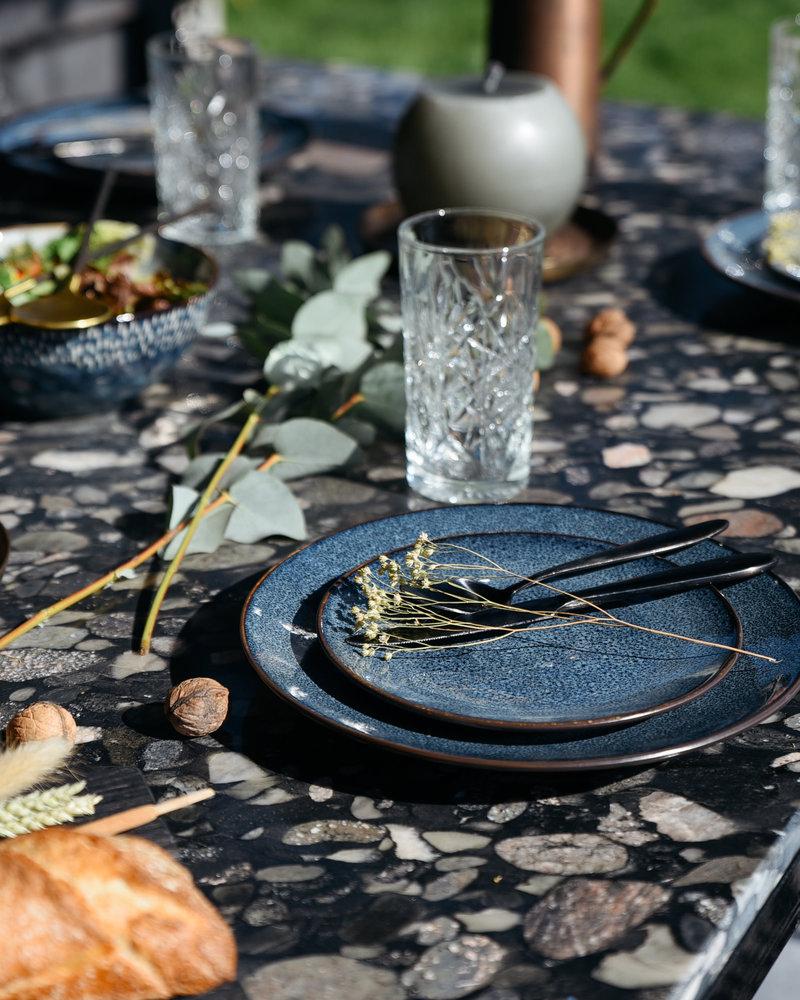 Mirha Dinner Plate Blue