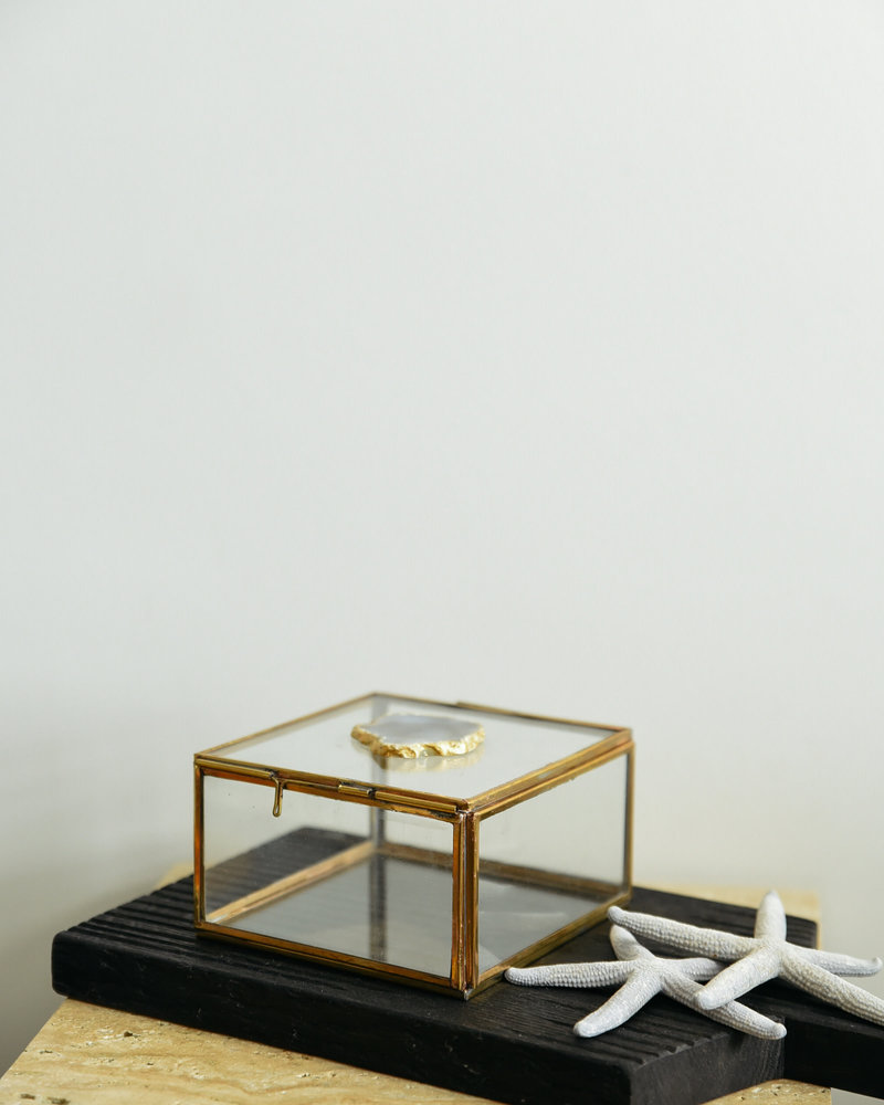 Brass Box With Stone