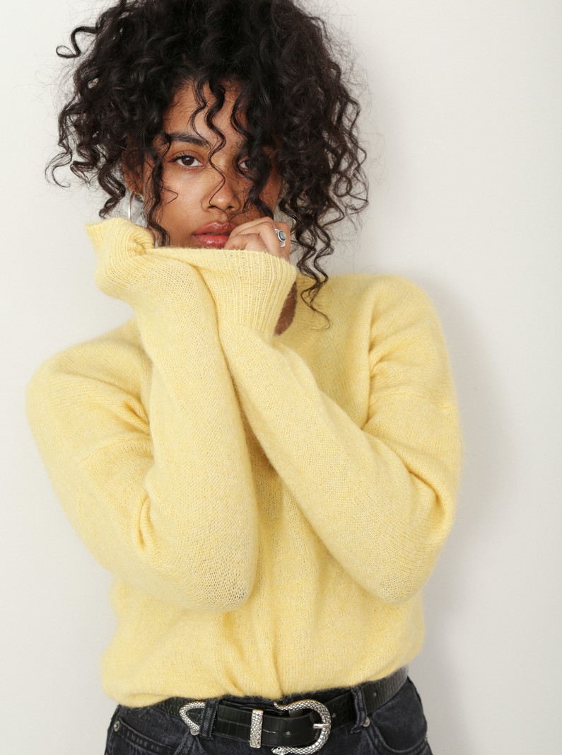 Mohair O Pullover Yellow