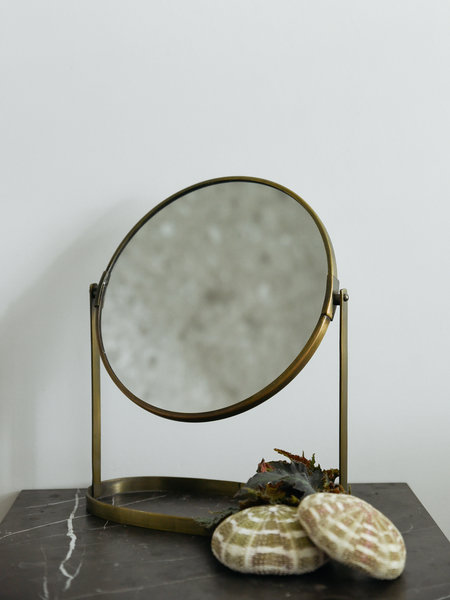 Swivel Mirror Brass