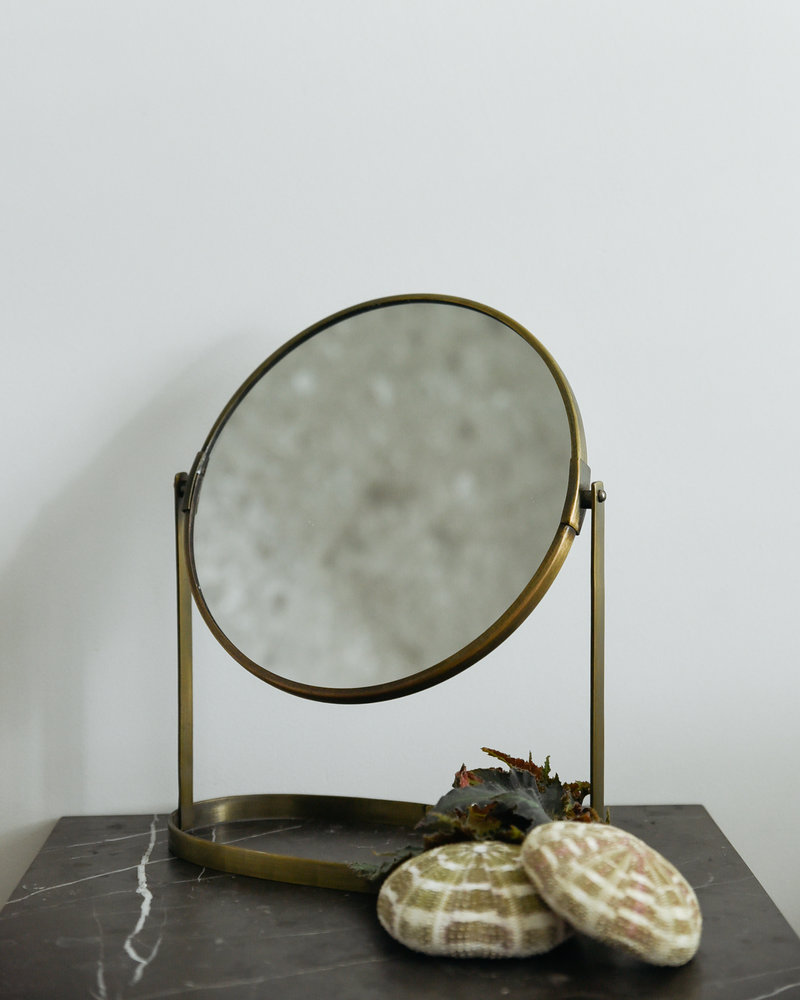 Swivel Mirror Brass