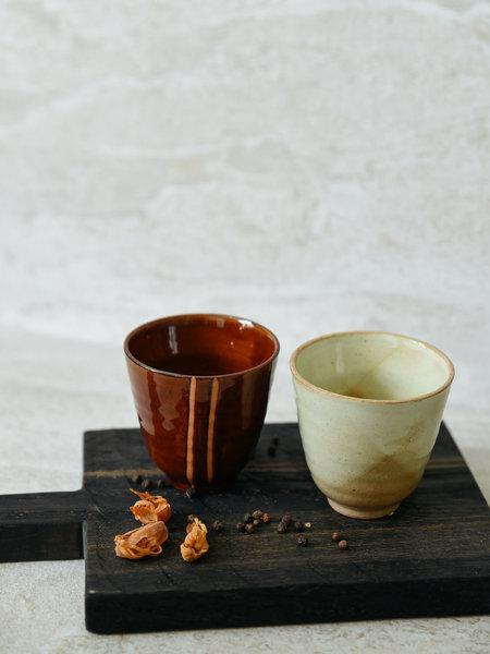 HKliving Kyoto Mug Red/Sand (SET OF 2)