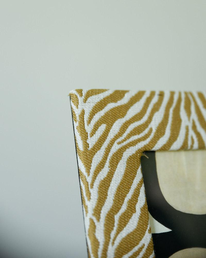 Photo Frame Zebra White Brown Soft