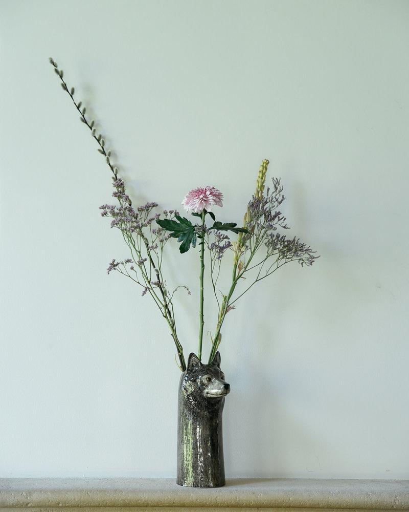 Wolf Vase