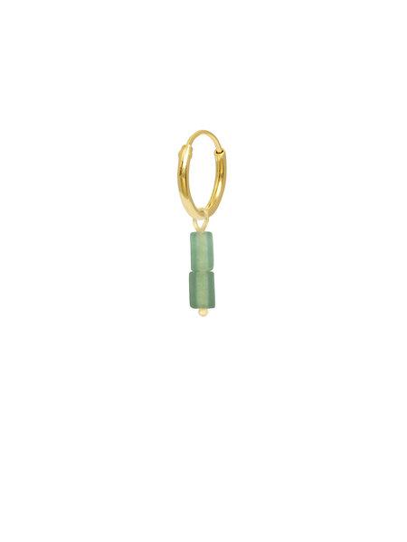 Flawed Jade Hoop Gold