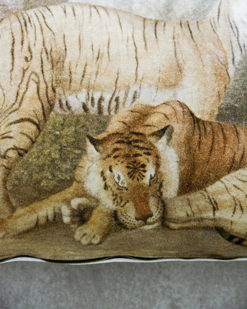 Tiger Velvet Cushion